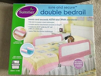 Summer Infant Double Safety Bed Rail, Pink