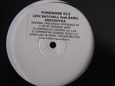 Levi Satchell. Be My Monkbat Baby (Funknose Label) Rare White Label. Affie Yusuf
