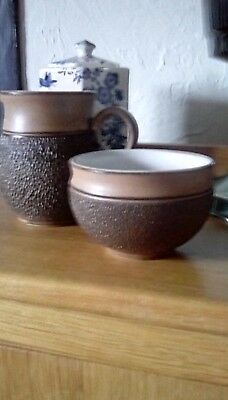 Denby Cotswold milk jug and sugar basin