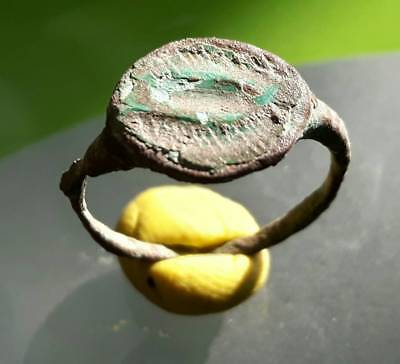 Celtic Ancient Bronze  Ring !! Two Fish Ring !!
