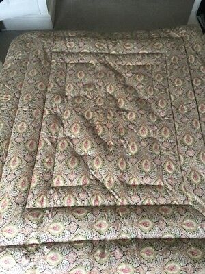 Vintage Paisley Eiderdown Quilt Possibly Silk