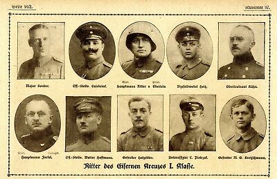 WW I Knights of the Iron Cross  German Hero Public Notice from: 1918.37