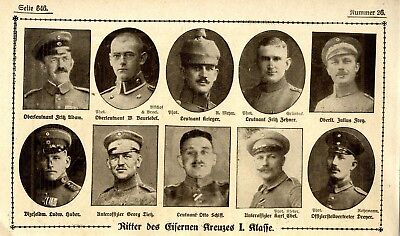 WW I Knights of the Iron Cross  German Hero Public Notice from: 1918.26