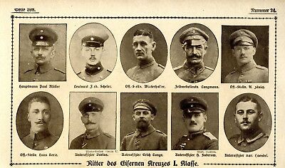 WW I Knights of the Iron Cross  German Hero Public Notice from: 1918.24