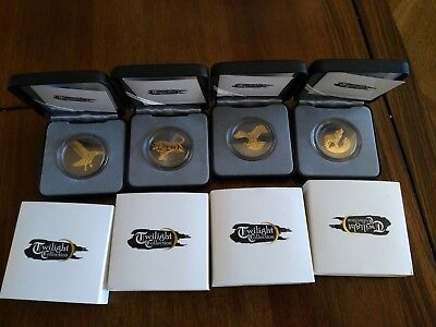Four Coins From Rare Twilight Collection, Only 1000 each Produced! No Reserve!