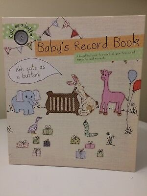 Record Book Memory Book for Baby Girl or Boy Beautiful and Fun NEW!