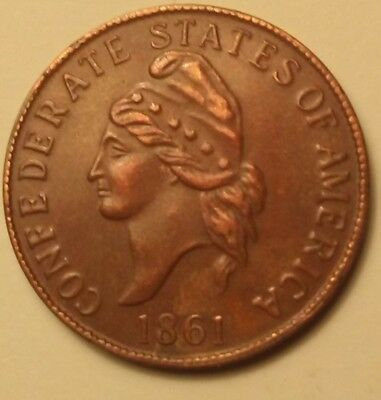 SALE !!!....CSA 1861 - Bronze One Cent Coin