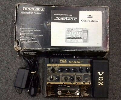 VOX ToneLab ST electric guitar multi effects pedal, tube powered modelling, +box
