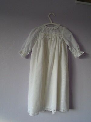 Christening Gown And Matching Bonnet Vintage From British Home Stores 3-6 Mths