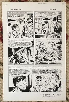 Original Page from Tales of the Green Beret #4, by Sam Glanzman (Sept. 1967)!