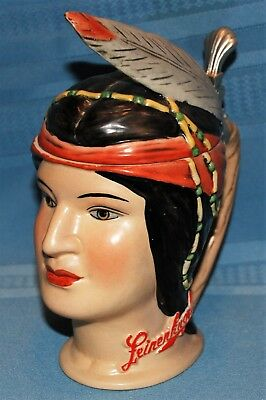 German Brewery Stein, Limited Edition Native American Maiden Character