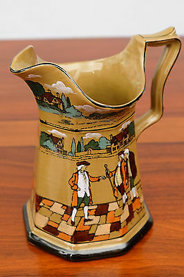 Antique 1908 Buffalo Pottery Dedare Ware Underglaze Pitcher