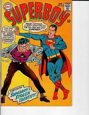 DC Comics Superboy #144 JAN 1968 Fine 6.0