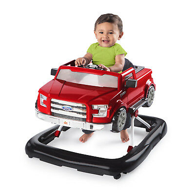 Bright baby 3 Ways To Play Walker Ford F 150 Red Adjustable Learning Toddler