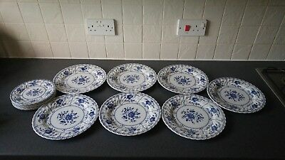 "Vintage Johnson ""Indies"" dinner plates and side plates"