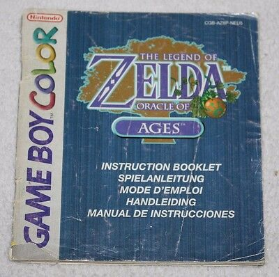 ++ notice mode d'emploi game boy color the legend of ZELDA oracle of ages ++