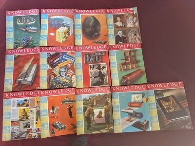 Knowledge 1960's comic magazines. 13 copies issue 108 to 120