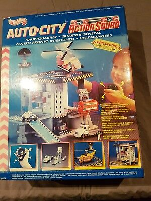 Hot Wheels Auto City Action Squad Spielset Hauptquartier Neu Ovp 1995 Autocity