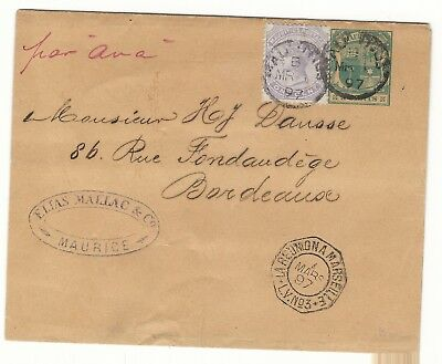E9 GB UK Uprated RR stationery newspaper wrapper ps  British Mauritius Maurice