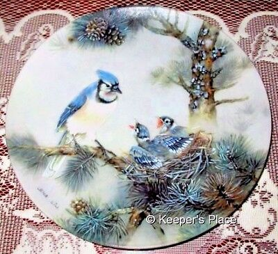 Lena Liu MORNING CHORUS Plate 6th Issue Nature's Poetry Series Porcelain Mint