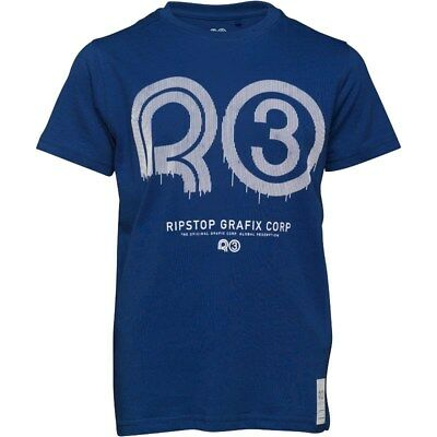 Ripstop Junior Boys Klitch Maz T-Shirt Age 7-8 Years BNWT RRP £16.98 Royal Blue