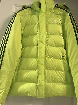 610499785 NWT ADIDAS CLIMAWARM Itavic 3 Stripe Down Jacket Men's Youth Size S $199  Yellow