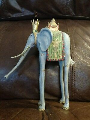Sparkly Elephant Figure Kids Room Decor Fantasy Royal Elephant Tall Elephant