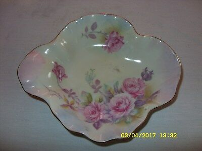 hand painted Lefson China floral with gold trim bowl
