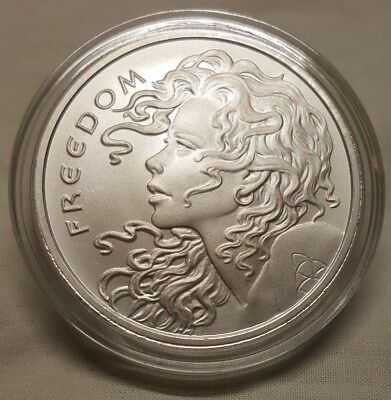 2018 Silver Shield 1oz Freedom Girl .999 Fine Silver Round Coin in CAPSULE