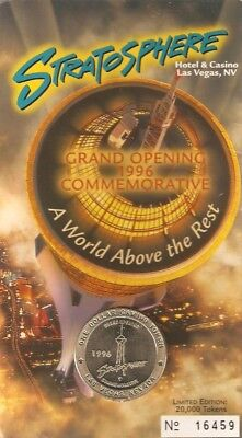 Stratosphere Casino Las Vegas,NV Grand opening Commemorative Coin 1996