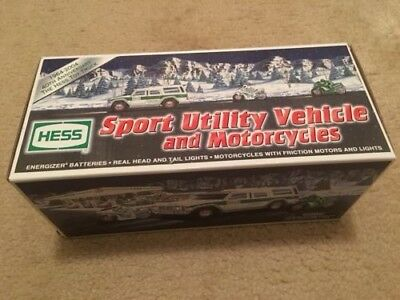 2004 Sport Utility Vehicle and Motorcycles Toy Hess Truck New in Box