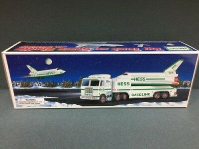 1999 Hess Truck And Space Shuttle With Satellite Toy New In Box
