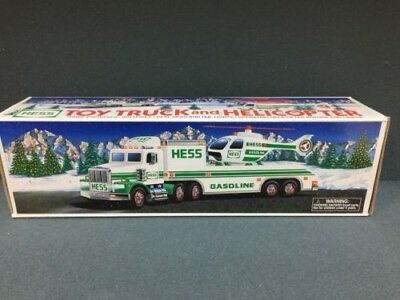 Hess 1995 Toy Truck And Helicopter Nib !