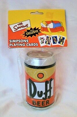 Simpsons Duffcan Playing Cards Resealed Packaging