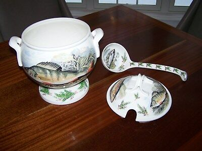 Portmeirion Compleat Anger Soup Tureen Rare Discontinued Pattern Never used fish