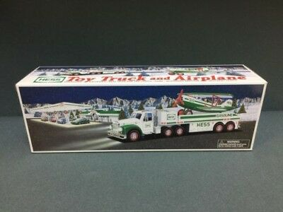 NEW Hess Toy Truck and Airplane 2002 Lights and Motorized Airplane FREE Shipping