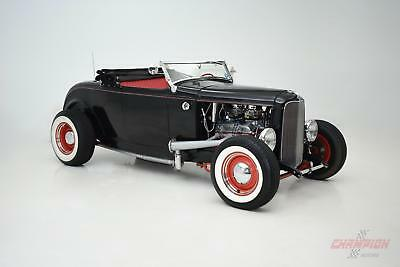 1932 Ford DEUCE HOT ROD CONVERTIBLE -- 1932 Ford DEUCE HOT ROD CONVERTIBLE  188 Miles Black  400 C.I. Automatic