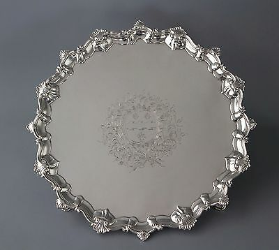 An Exceptional George II Silver Salver, Richard Rugg, London 1759