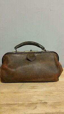 vintage gladstone small doctors leather bag