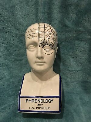 PHRENOLOGY HEAD BY L.N. FOWLER perfect condition - Ceramic