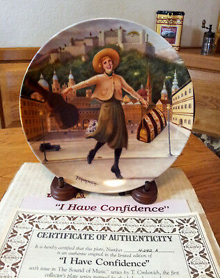 """Knowles Julie Andrews """"I Have Confidence"""" The Sound of Music Collector Plate"""