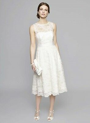 Bnwt Sizes 8-16, Bhs Ivory Charlotte Lace Wedding Dress, Size 12, Rrp £110