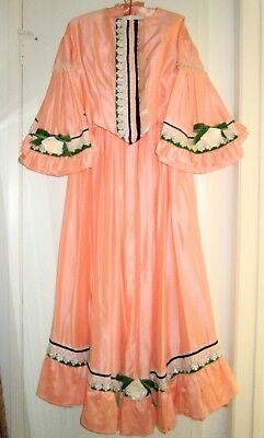 Civil War 3-Piece Ball Gown Victorian Dickens Sass Peach Sz12 M New