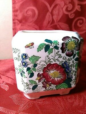 Floral Vase Mason's Patent Ironstone Made in England for Rosemary Shelton