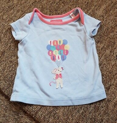 Joules 'have a mice day' blue balloon top age 3-6 months