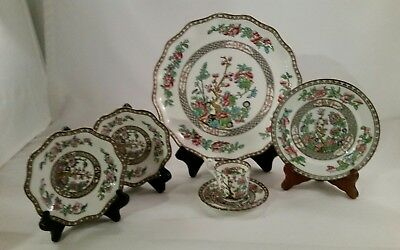 6 Coalport Indian Tree Serving Platter And More