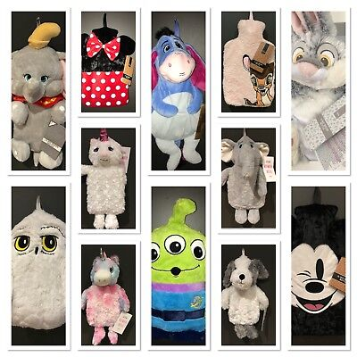 2L Hot Water Bottle Disney Primark Novelty Minnie Mickey Mouse Bambi elephant