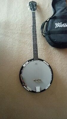 Washburn 5 String Banjo with REMO head. AS NEW.