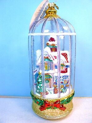Christopher Radko 2017 Snowy Victorian Cage Ornament, Limited Edition 579 Of 914
