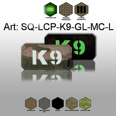 Patch Custom K9 Cordura 1000D (NIR) - Laser-Cut Multicam, Coyote, Olive, Black